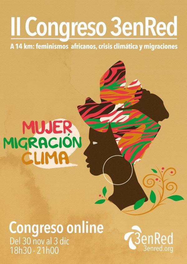 II Congreso 3enRed 14 km: Feminismos africanos, crisis climática y migraciones.