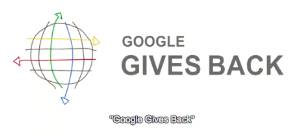 google gives back